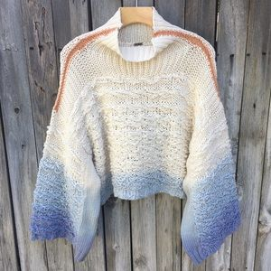 Free People Calm Waters Pullover Sweater Ombré XS